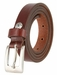 "1794/19 Women's Skinny 3/4""  Genuine Leather Dress Belt Made in Italy (Dark Red)"
