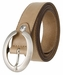 """2490-30 1-1/8"""" Genuine Leather Belt Made In Italy (Taupe)"""