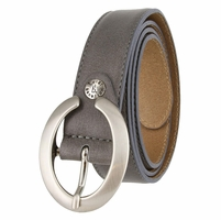 "2490/30 1-1/8"" Genuine Leather Belt Made In Italy (Grey)"