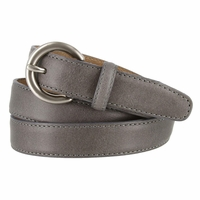 "2502/26 1"" Wide Genuine Leather Belt Made In Italy (Grey)"