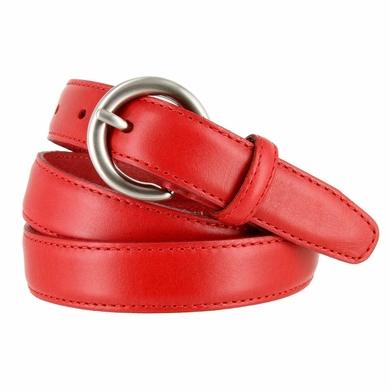"2502/26 1"" Wide Genuine Leather Belt Made In Italy (Red)"