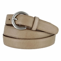 "2502/26 1"" Wide Genuine Leather Belt Made In Italy (Taupe)"