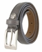 "2509/19 Stitched Women's Skinny 3/4""  Genuine Leather Dress Belt Made in Italy (Grey)1"