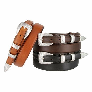"Marshall Men's Genuine Leather Ranger Belt 1-3/8"" taper to 3/4"""