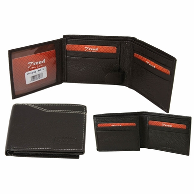 MC-05 Trend New York Manlo Collection Genuine Leather Dress Wallet-Dark Brown