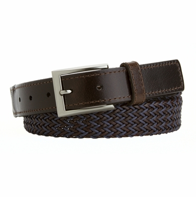 Men's Casual Fabric Woven and Leather Braided Brown and Purple L13345