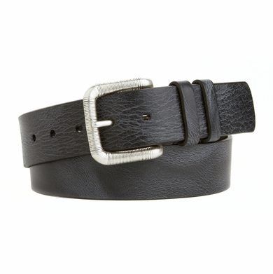 Men's Casual Vintage Jean Italian Saddle Leather Belt Made in the USA  Black L82131