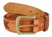 Men's Eagle Embossed Braided Genuine Leather Casual Jean Belt - Tan1