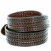 Men's Fine Triple Braided Genuine Leather Casual Jean Belt - Brown2