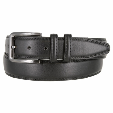 "Men's Genuine Leather Casual Dress Belt 1-3/8"" (35mm) wide - Black"
