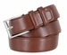 "Men's Genuine Leather Casual Dress Belt 1-3/8"" (35mm) wide - Brown2"