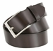 "Men's Leather Casual Belt 1-1/2"" (38mm) wide with Nickel Plated Buckle - Brown1"
