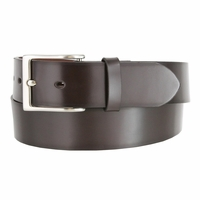 "Men's Genuine Leather Casual Belt 1-1/2"" (38mm) wide with Nickel Plated Buckle - Brown"