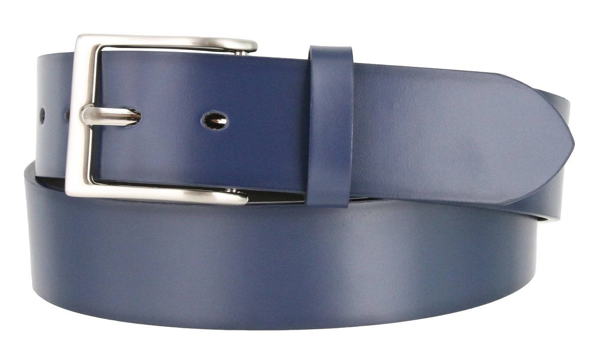 Mens Genuine Casual Dress Leather Belt 1-1//2 = 38mm wide with Nickel Plated Buckle