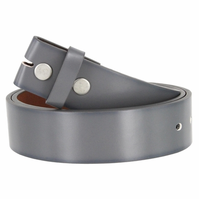 "Men's Genuine Leather Dress Casual Belt Strap 1-1/2"" (38mm) wide - Gray"