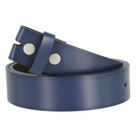"Men's Genuine Leather Dress Casual Belt Strap 1-1/2"" (38mm) wide - Navy"