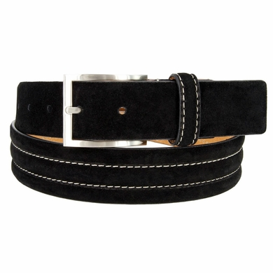 "Men's Genuine Suede Casual Dress Leather Belt 1-3/8"" (35mm) Wide"