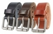 "Men's Smooth Genuine Italian Leather Belt 1 1/2"" (38mm) Wide"