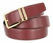"4010D-GP-2406 Men's Reversible Genuine Leather Dress Casual Belt 1-1/8"" (30mm) wide - Black/Burgundy1"