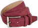 "Men's Suede Leather Dress Belt 1-3/8"" Wide - Burgundy2"