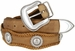 Men's Cowboy Western Horse Head rope Edge Conchos Leather Belt3