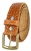"Men's Woven Braided Crossweave Full Grain Casual Leather Belt 1-1/2"" = 38mm wide - Tan2"