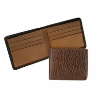 Mesa 102 Brown Lejon Bison Leather Wallet Made In USA