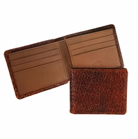 Mesa 103 Peanut-Tan Lejon Bison Leather Wallet Made In USA