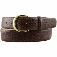 "Mila's Designer Italian Calfskin Dress Belt 1. 5"" Wide"