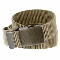 Military Arm Canvas Web Belt 1. 25 inch - Khaki