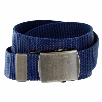 Military Army Canvas Web Belt 1. 25 inch - Navy 42914f0e2b2