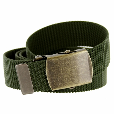 Military Army Canvas Web Belt 1  25 inch - Olive