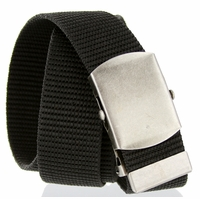 Military Army Canvas Web Belt 1. 5 inch - Black