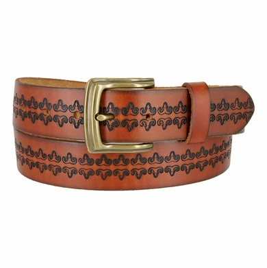 "Modesto Men's Vintage Full Grain Leather Belt 1-1/2"" Wide"