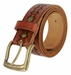 "Modesto Men's Vintage Full Grain Leather Belt 1-1/2"" Wide3"