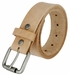 "Natural Finish Full Grain Leather Belt with Roller Buckle 1 1/2"" Made in USA1"