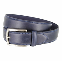 """Nautica Double-Stitched Navy Leather Belt 1-1/4"""" wide - Navy"""