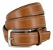 "Nautica Embossed Edge Stitched Leather Casual Belt 1-3/8"" wide - Tan2"