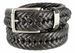 "Nautica Woven Leather Roller Buckle Belt - Black 1-1/4"" wide"