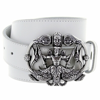 Neptune Belt Buckle Casual Jean Leather Belt