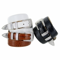 Nevada Men's Italian Leather Dress Golf Belt