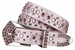 "New!! 6023 Women's Rhinestone studded Genuine leather Belt 1 1/8"" Wide1"