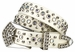 "New!! 6023 Women's Rhinestone studded Genuine leather Belt 1 1/8"" Wide3"