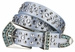 "New!! 6023 Women's Rhinestone studded Genuine leather Belt 1 1/8"" Wide"