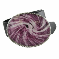 NEW Tornado Amethyst Leather Belt