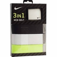 Nike 3 in 1 Web Belt Pack - Black/White/Cyber