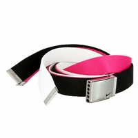 Nike Belt Web Belts 3 in 1 Pack (Black White Pink)