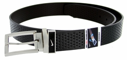 1118820 Nike Golf Tour Men's Perforated Reversible Leather Belt - Black/Brown