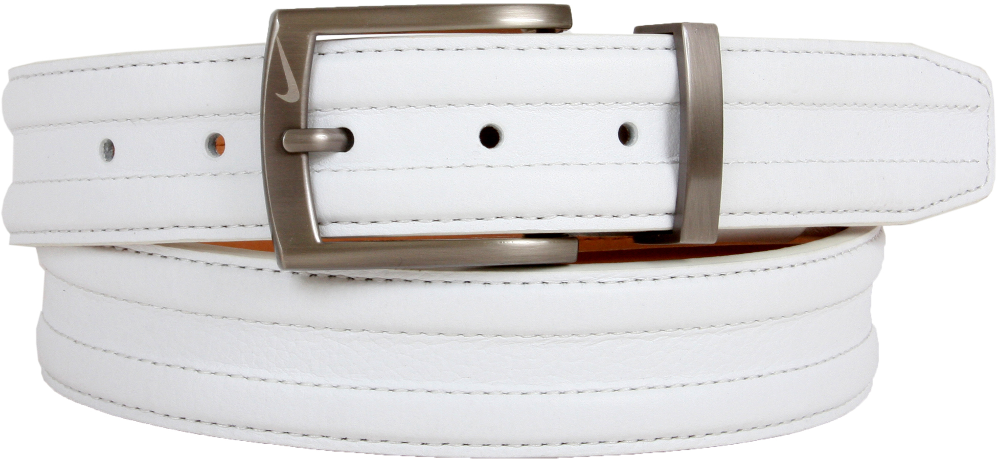 67657bea054 1108404 Nike Golf Tour Men s Trapunto G-Flex Leather Belt - White