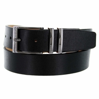 Nike Men's Belt Laser Etched II Leather Golf Belt 1116301 - Black